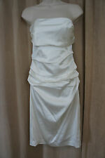 Suzi Chin for Maggy Boutique Dress Sz 4 Ivory Wedding Reception Cocktail Dress