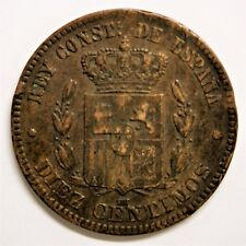Diez centimos Alfonso XII 1879