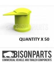 * 32 mm x 50 Universel Long Reach dustite Wheel Nut Cover Indicateur BP110-200 X 50