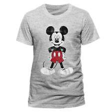 Mickey Mouse Pose Official Disney Mickey & Minnie Heather Grey Men T-shirt