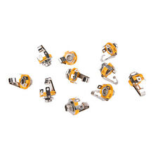 "10X/Set Mono 1/4"" 6.35mm ID Socket Jack Connector Panel Mount Guitar Plate LWY"