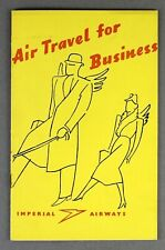 IMPERIAL AIRWAYS AIR TRAVEL FOR BUSINESS VINTAGE AIRLINE BROCHURE 1936