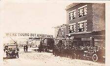 RP: Main Street, Crowd in front of drug Store, NORTH BATTLEFORD, Saskatchewan