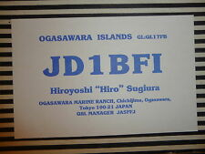 QSL CARD CARTE RADIO Ogasawara Islands JD1BF1