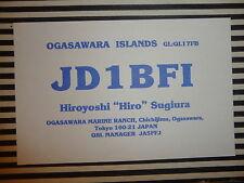 QSL CARD CARTE RADIO Ogasawara Islands JD1BF1