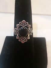 Women Mid Ring Joint Knuckle Ring VTG  Retro Silverplate Filigree Size 6..NEW