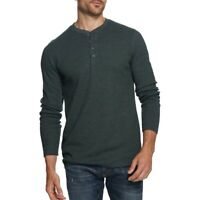 WEATHERPROOF VINTAGE NEW Men's Waffle-knit Henley Shirt TEDO