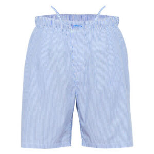 Ritzy Men's Sleep Short Pajama 100% Cotton Plaid Woven Comfortsoft- B&W Stripes