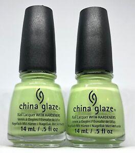 China Glaze Nail Polish BE MORE PACIFIC 1309 Bright Pastel Cream Green Lacquer