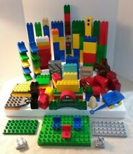 225+ Lot of Assorted LEGO Duplo Bricks, Baseplate & Pieces