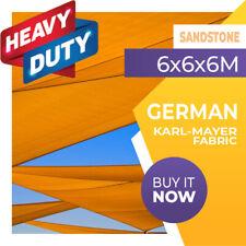 SHADE SAIL TRIANGLE SANDSTONE 6m x 6m x 6m SUN AWNING 6x6x6 6x6x6m 6 x 6 x 6