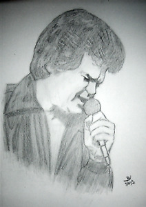 CONWAY TWITTY #2 PENCIL DRAWINGS 11X14 IN. PORTRAITS ORIGINAL PIECE SKETCHES