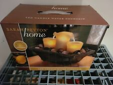 Sarah Peyton Home LED Candle Water Fountain with Rock Garden Brand New in Box