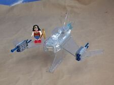 LEGO DC SUPER HEROES CUSTOM WONDER WOMAN'S INVISIBLE JET WITH DOUBLE CANNONS