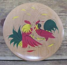 Rooster Chicken Wooden Wood Hamburger Press Vintage