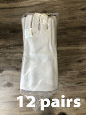12pk 12 Pairs Boss Gray Leather Welder Gloves Fully Lined 1jl0925 Size L