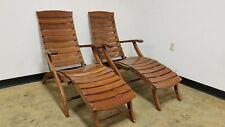 Triconfort Bubinga Adjustable Captain Steamer Lounge Chair