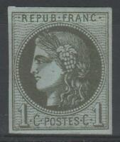 """FRANCE STAMP TIMBRE N° 39 C """" CERES BORDEAUX 1c OLIVE REPORT 3 """" NEUF x TB  N895"""
