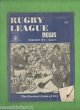 #QQ. THE RUGBY LEAGUE NEWS, 28-29th July 1973, Newtown Jets Cover