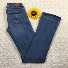 American Eagle Womens Skinny Kick Bootcut Jeans Size 0 Stretch Blue Denim fr551