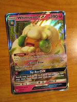 NM Pokemon WHIMSICOTT GX Card UNBROKEN BONDS Set 140/214 Sun and Moon Ultra Rare