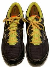 Saucony Power Grid Hurricane Mens Sz 14 Running Shoes Black Orange Green Silver