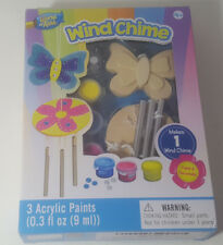 NEW MasterPieces Works of Ahhh Mini Butterfly Wind Chime Wood Paint Kit