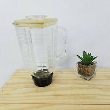 MIXER BLENDER BASE JAR AND BLADE SET  Vintage Oster Regency  Heavy Glass 5 CUP
