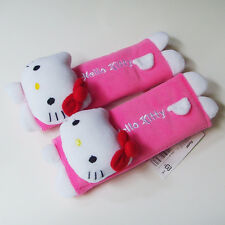 Hello Kitty Figure Shape Car Use Baby Trolley Use SEAT BELT STRAP Cover Set