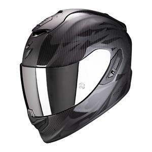 Helmet Integral Motorbike Scorpion EXO-1400 Carbon Air Obscura Matte Black New