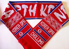NORTH KOREA Football Scarves New from Soft Luxury Acrylic Yarns