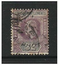 Malaya Straits Settlements - 1902, $2 Dull Purple & Black - G/U - SG 120
