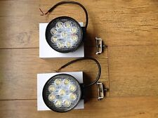 2X 27W Round LED Work Light Spot Beam Massey John Deere Ford New Holland Case