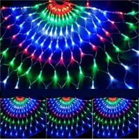 3M 444LEDs Peacock Net Mesh Curtain Fairy String Light Xmas Party Outdoor Lamp