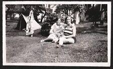 Vintage Photograph 1927-1930S Pennsylvania Girls Fox Terrier Dog Puppy Old Photo