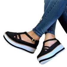 Mujer Verano Vulcanizado Zapatos Sandalias De Fondo Grueso Color Sólido Borla Zapatos Caliente