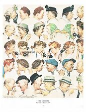 "Norman Rockwell poster print: ""THE GOSSIPS""  How gossip spreads grapevine"