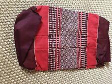 Thai Pillow Cotton Bolster Yoga Headrest Meditation.  Cover Only