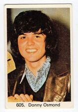 1970s Swedish Pop Star Card  #605 American teen heartthrob singer Donny Osmond