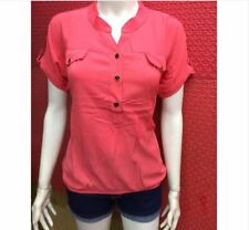 POLO BLOUSE (WITH GARTER) - PINK
