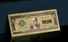<UNC. 1928> GOLD $100,000 Rep.* Banknote W/COA~RAISED DETAIL~U.S SELLER! a