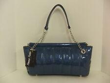 Femme Fatale Vixen Bag Ocean Blue Allover Sparkle Pinup Rockabilly Hotrod Retro