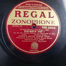 78 rpm FODENS MOTOR WORKS BAND kenilworth MR 2244