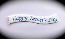 20 Sentiment Greeting Card Craft Message Banners HAPPY FATHER'S DAY for Crafts