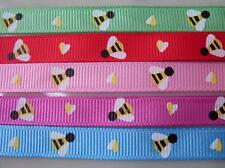 "10 yds Heart Valentine Bee Mine 3/8"" Grosgrain Ribbon Hairbow Craft Gift"