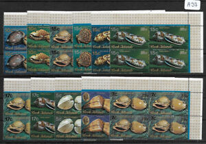 SMT, COOK ISLANDS: Conches and Shells definitives set of 11 X 4, MNH
