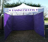 3x3m COMMERCIAL GRADE HEAVY DUTY POP UP GAZEBO MARKET STALL MARQUEE - 3 sides
