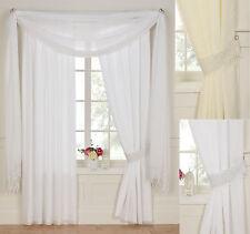 Daisy Plain / Macreme Voile Curtains