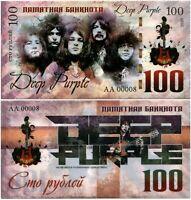 Russia 100 rubles, Deep Purple, Souvenir polymer banknote, UNC