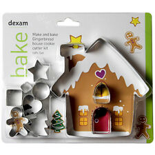 Dexam Make & Bake Gingerbread House Cookie Cutter Kit - 10 pieces